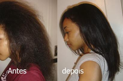 alisar os cabelos