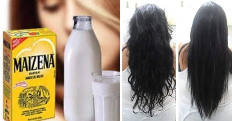 maizena para os cabelos